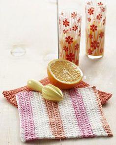 Pink Grapefruit Dishcloth | FaveCrafts.com