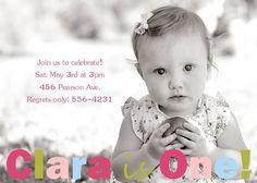 simpl birthday, birthday parti, first birthday invite, birthday photo, girl simpl