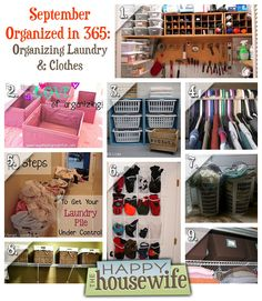 September Organized in 365: Organizing Laundry & Clothes