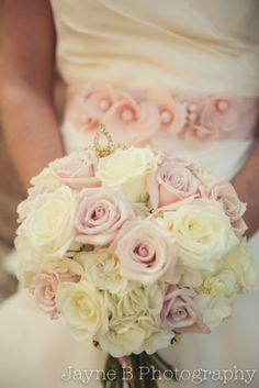 Bridal Bouquet . Blush + Cream + Gold Wedding