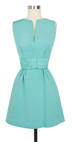 The limited edition Candice Gwinn Bitsy Dress in Pastel Turquoise Ribbed Rayon features pockets and an adorable bow! bridesmaid dresses, cocktail dresses, dress pick