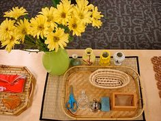 flower arrang, montessori school