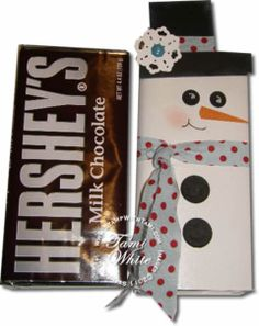 Frosty The Candy Bar Snowman
