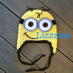 Minion Hat EASY 6 sizes Beanie Earflap pattern on Craftsy.com