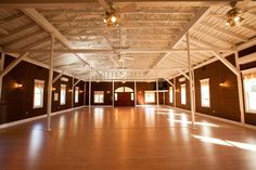 The interior of the Carriage House is a perfect venue for a rustic or vintage wedding! {Historic Rosemont Manor}