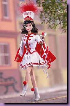 2001-Barbie Coca Cola Majorette~This reminds me of the outfit I wore as a child and a majorette=)