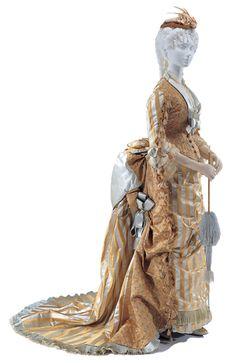 1875  visiting dress  ヴィジティング・ドレス