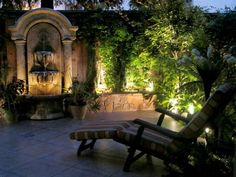 Stunning Garden Fountain >> http://www.hgtv.com/outdoor-rooms/gorgeous-outdoor-looks-to-steal/pictures/page-11.html?soc=pinterest #hgtv