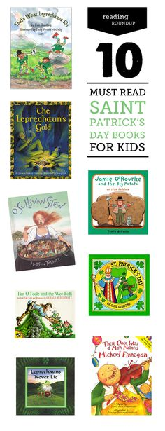 10 fun reads for St. Patrick's Day. Picking these up for my preschool and second grader this week!