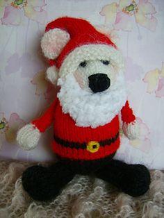 knitting projects, polar bears, knit toy, knitting patterns, bear santa, crochet patterns, bear cubs, amigurumi, free knit
