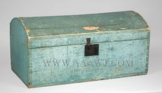 Antique Dometop Trunks, Painted Storage Boxes, Painted Travel Boxes, Document boxes