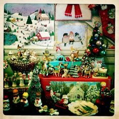 lots of vintage christmas kitsch