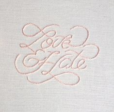 Type Embroidery on Behance