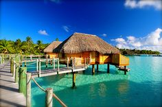 On my bucket list: vacation in a hut over the sea. This is in the Maldives.