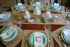 Beach tablescape and sand dollar place holder tutorial