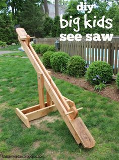 "That's My Letter: ""S"" is for See Saw, diy big kids seesaw"
