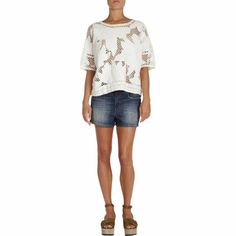 Isabel Marant Etoile Calice Guipure Lace Top at Barneys.com
