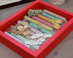 DIY washi tape jewelry tray made from a picture frame!