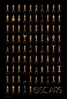 #Oscars Poster Commemorates 85 Years of 'Best Picture' film, olly moss, graphic designers, ollymoss, academy awards, posters, poster designs, oscar, poster prints