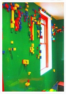 Instead of finding Legos all over the floor. You'll find them all over the wall!