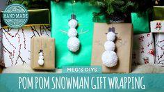 Pom Pom Snow Man Gif