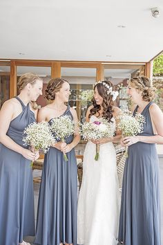 Braided updos for the bridesmaids via @stylemepretty
