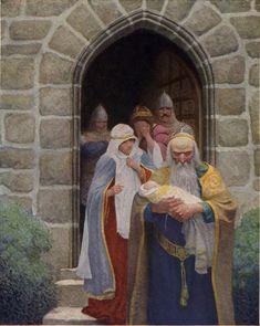 NC Wyeth - Merlin taking away the infant Arthur