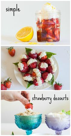 Strawberry Desserts: easy and healthy