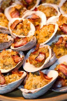 Clams casino eptimizing classic New England cuisine.  #scenesofnewengland #soNE #food #soNEfood
