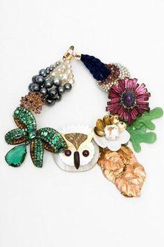Louis Vuitton Owl Necklace #owl #fashion #Louis #Vuitton #necklace