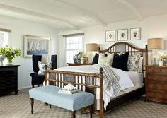 beds, british colonial style, coastal style, barclay butera, master bedrooms