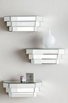 mirrored step shelf