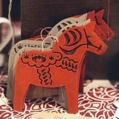Dala Horse Christmas Tree Decorations » Pretty Dandy