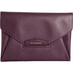 Givenchy Antigona Envelope Clutch found on Polyvore