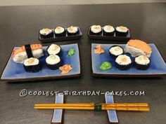 Coolest Sushi Birthday Cake...
