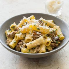 Rigatoni with Sausage and Chives | Cook's Country