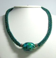 blue kumihimo necklace kumihimo jewelry