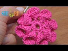 Crochet Flower Petals Folded to Left Tutorial 21