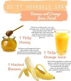 DIY Spa: Banana and Orange Juice Facial