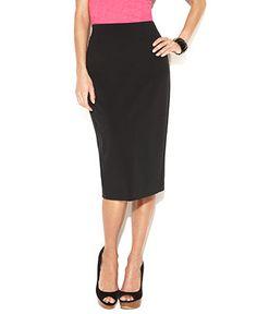petite long pencil skirt