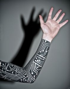 Tribal Style ElectronicTattoo, Mega Design Full Arm