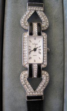 Vintage Bob Mackie Art Deco Style Watch Org by VintagObsessions, $85.00