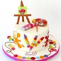 art party, one year anniversary, child birthday, cake art, party cakes, art cakes, art craft, themed parties, birthday cakes