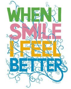 smiling smile quot, quotes, happi, feel better, inspir, posit, life quot, thing, live