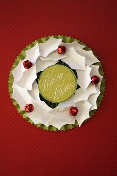 holiday, field, christmas wreaths, christmas cards, 3d paper