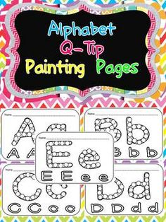 Fun Literacy Center/ Word Work Station!! Q-Tip Painting Pages for Letters $