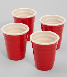 Red Cup Shot Glass Set $12 gag gift, red cup, cup shot, glass set, stuff, glasses, cups, shot glass, gift idea
