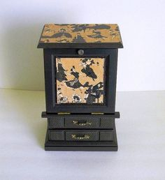 Upcycled Hand Painted Vintage Wooden Jewelry Box  by BrisNanaJoy, $35.95