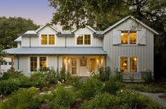 I love the scale of this home, and of course the barn-style accents that don't go overboard. I think the roof is galvanized and the siding is board and batten - PERFECT! By Arcanum Architecture in San Francisico, CA.