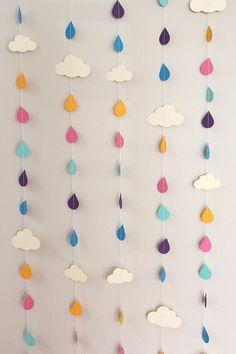 Gouttes+de+pluie+arcenciel+et+nuages+guirlande+en+par+1PixiePlace,+$30.00
